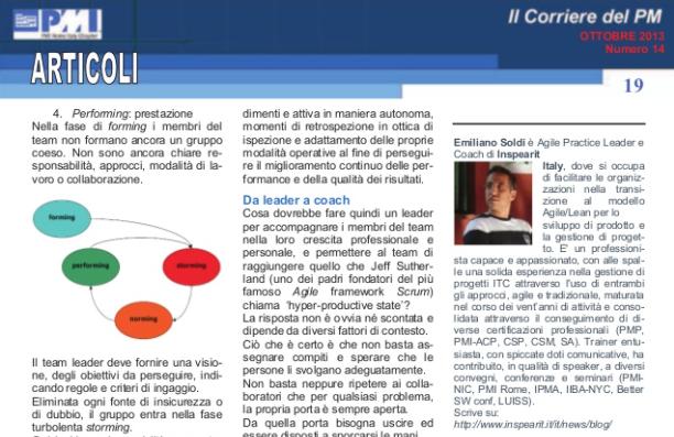 Un team che cresce: PMI-Rome Magazine N°14 – Ottobre 2013